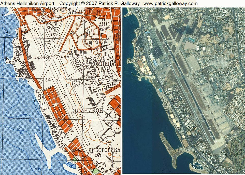Patrick r galloway patrickgalloway the overlay grid on the soviet map shows 1 km squares note the accurately mapped airport layout and the details of the waterfront with all its harbors gumiabroncs Image collections